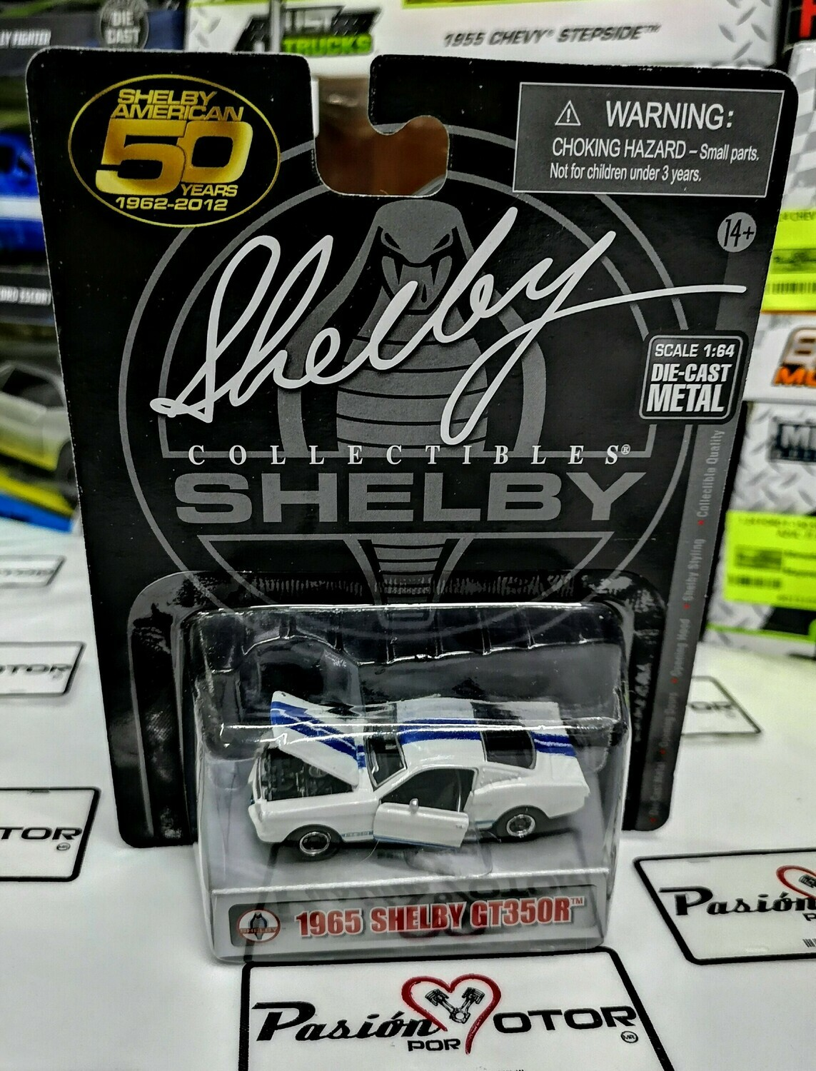 1:64 Shelby GT350R 1965 Blanco Mustang Shelby Collectibles