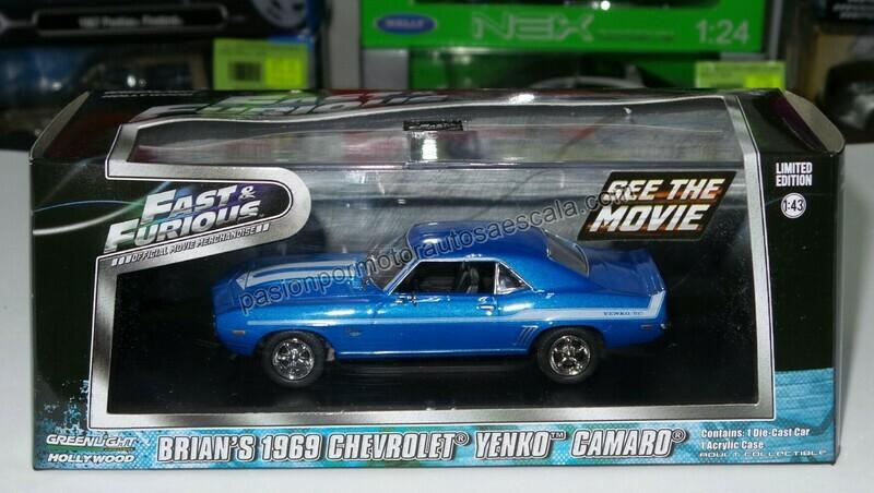 1:43 Chevrolet Camaro Yenko 1969 Brian´s Rapido y Furioso 2 de Greenlight