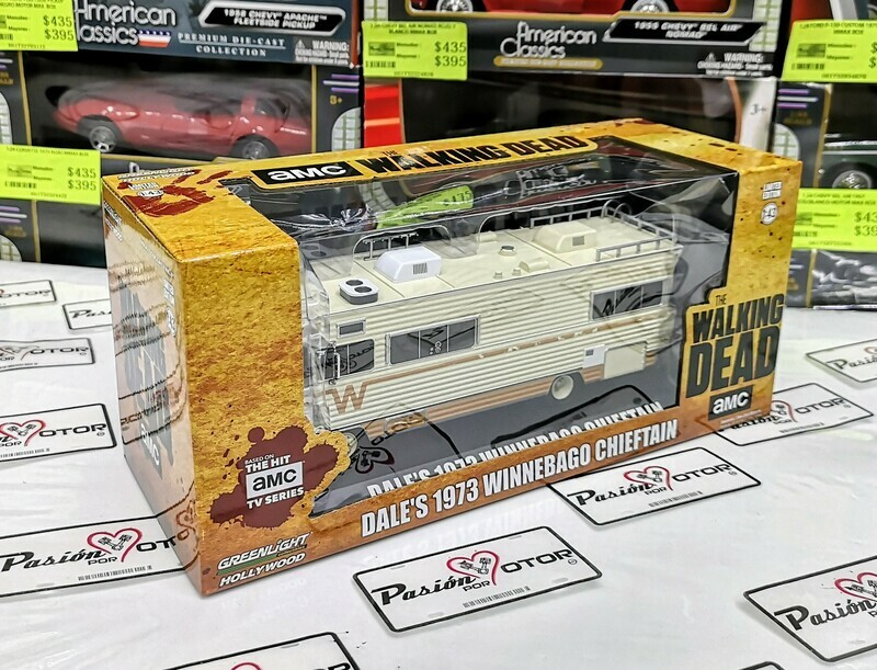 1:43 Motorhome Winnebago Chieftain 1973 Dale´s The Walking Dead Greenlight Hollywood