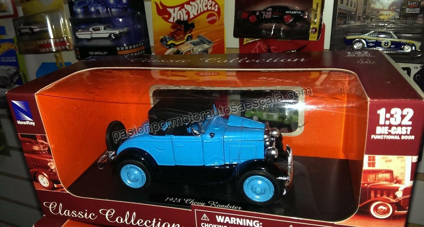 1:32 Chevrolet Roadster 1928 Azul Carcacha New Ray