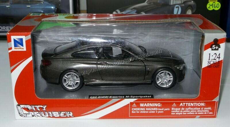 1:24 BMW 435i M Serie 4 F32 2013 Gris New Ray c Caja