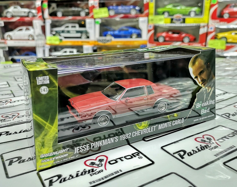 1:43 Chevrolet Monte Carlo 1982 Rojo Jesse Pinkman's Breaking Bad de Greenlight Hollywood