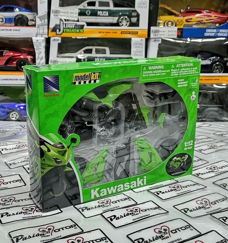 1:12 Kawasaki ZX-10R 2006 Verde Moto Kit Para Armar New Ray