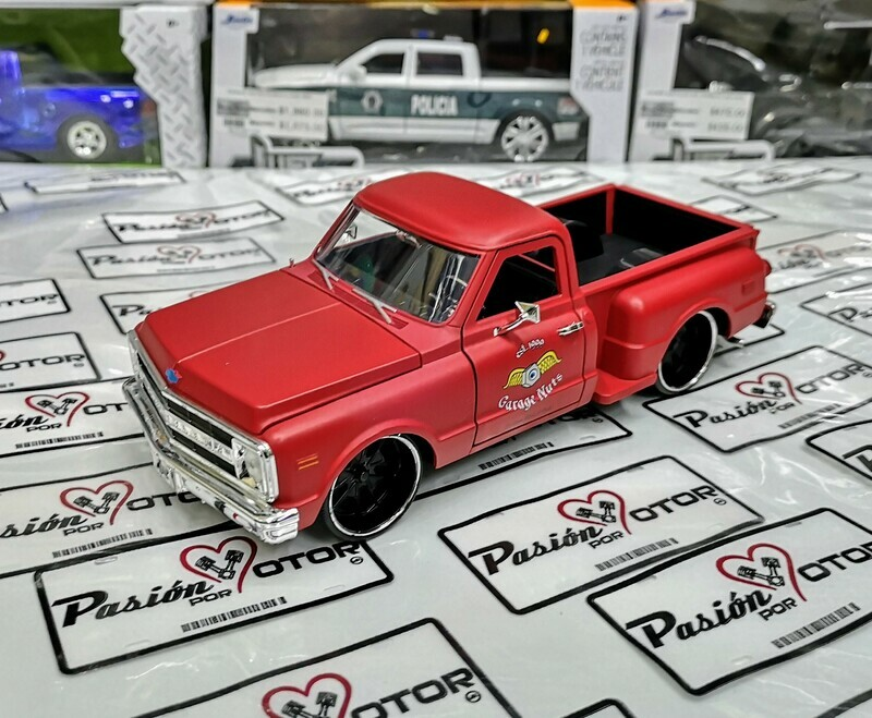 1:24 Chevrolet Pick Up C-10 Stepside 1969 Rojo Terracota Jada Toys Just Trucks En Caja