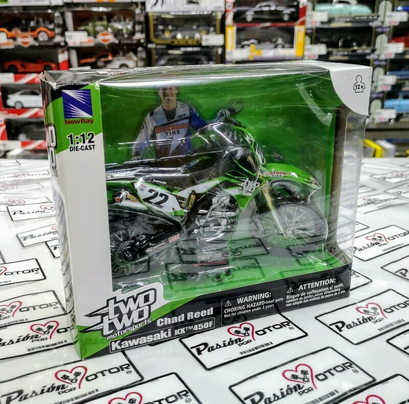 1:12 Kawasaki KX 450F Chad Reed New Ray Two Two Motorsports