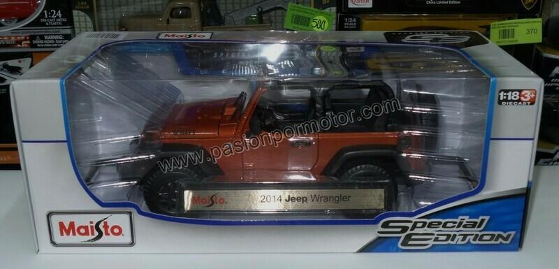 1:18 Jeep Wrangler Willys 2014 Cobre Open Top Maisto Special Edition 1:18