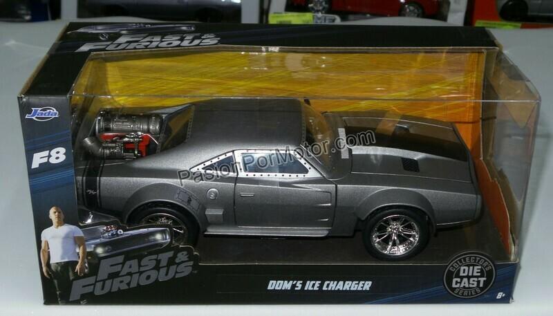 1:24 Dodge Charger Ice 1968 Rapido Y Furioso 8 Jada Toys Caja