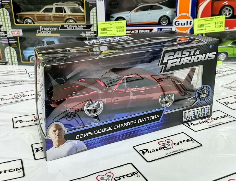 1:24 Dodge Charger Daytona 1969 Dom's Toretto Rojo Rapido Y Furioso 6 Jada Toys En Caja