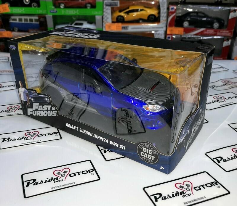 1:24 Subaru Impreza WRX STi 2012 Brian's Azul Plata Jada Toys Rapido y Furioso 7 C Caja
