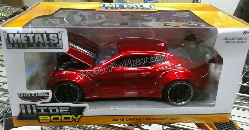 1:24 Chevrolet Camaro SS 2016 Wide Body Rojo Jada Toys Big Time Muscle En Caja
