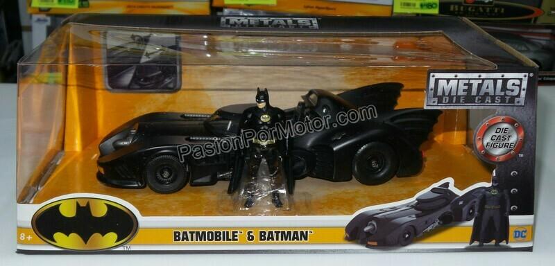 1:24 Batimovil 1989 - 1992 C Figura de Batman Jada Toys Metals DC Comics En Caja