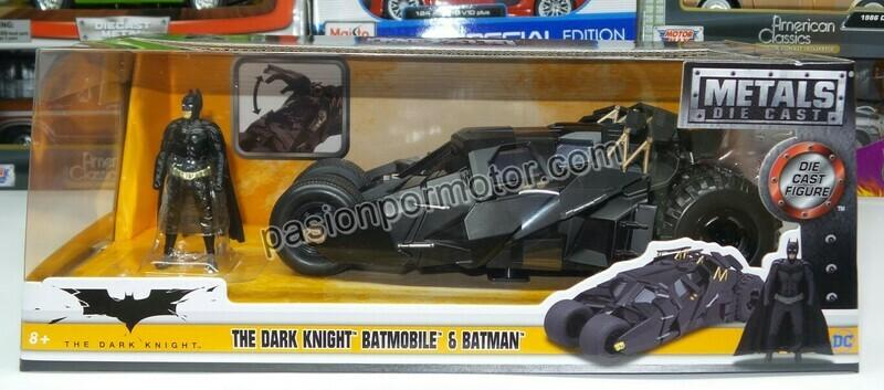 1:24 Batimovil 2005 Tumbler Negro Batman The Dark Night Jada Toys Metals DC Comics En Caja