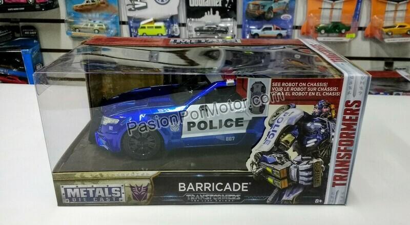 1:24 Barricade Police Patrulla Transformers The Last Knight Jada Toys Hollywood Rides C Caja