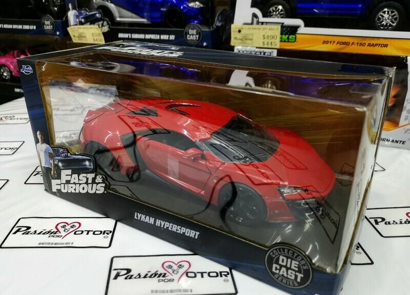 1:24 W Motors Lykan Hypersport 2015 Rapido Y Furioso 7 Jada Toys C Caja