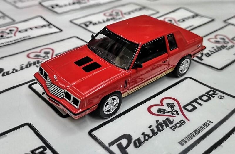 1:43 Dodge Magnum 400 Turbo 1984 Rojo Valiant Dart 2 Puertas Ixo