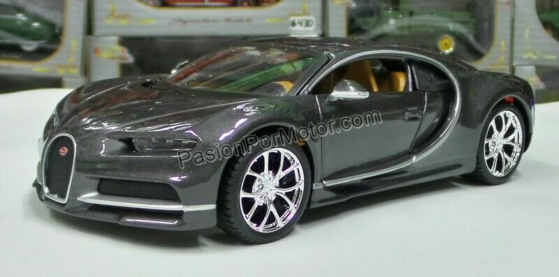 1:24 Bugatti Chiron 2016 Gris Maisto Special Edition En Display / A Granel