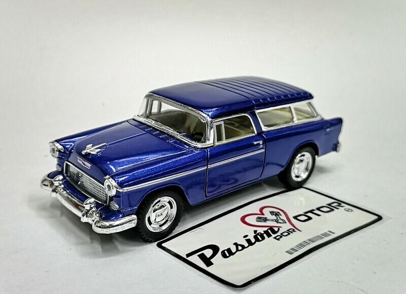 1:40 Chevrolet Nomad 1955 Azul Kinsmart En Display / a Granel 1:32