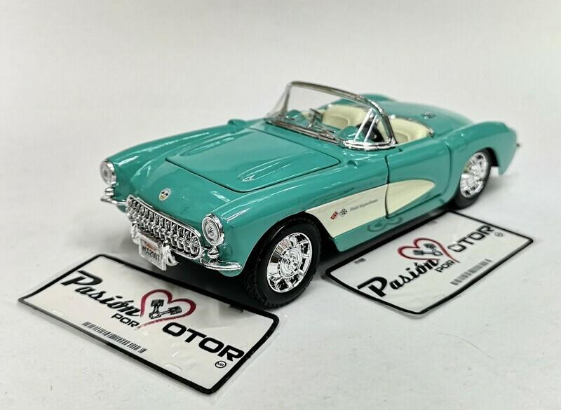 1:24 Chevrolet Corvette 1957 Verde Maisto Special Edition En Display / A Granel