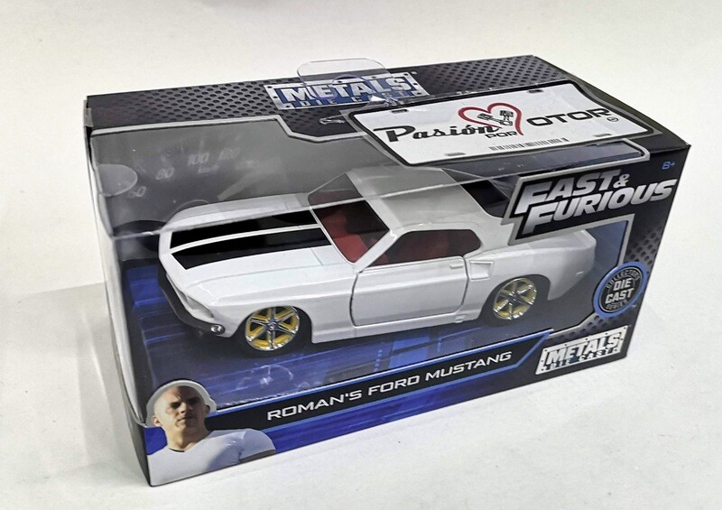 1:32 Ford Mustang 1969 Blanco Roman´s Jada Toys Rapido y Furioso 6 En Caja