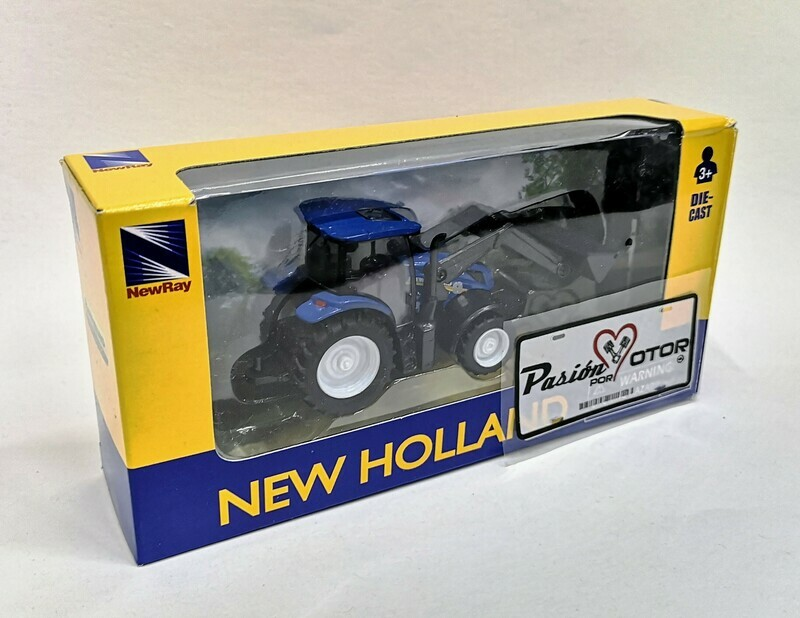 1:43 Tractor Agricola New Holland T6.175 Cargador Frontal New Ray Maquinaria