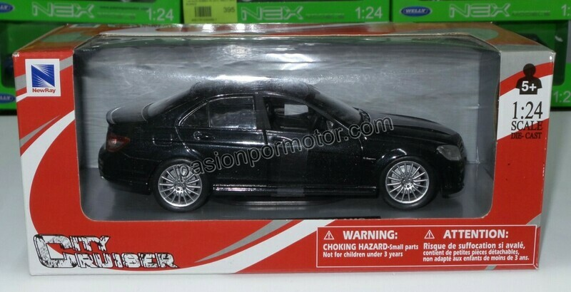 1:24 Mercedes Benz C63 2008 Negro New Ray C Caja