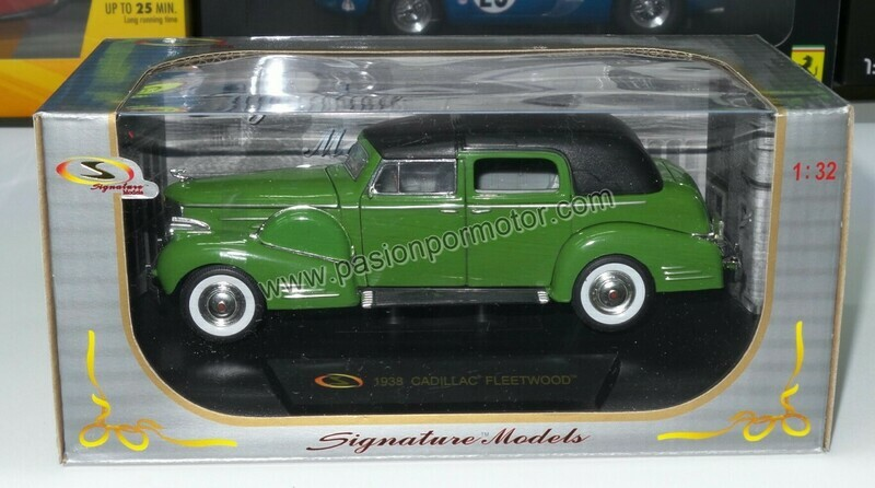 1:32 Cadillac Fleetwood 1938 Verde Signature Models Carcacha C Caja