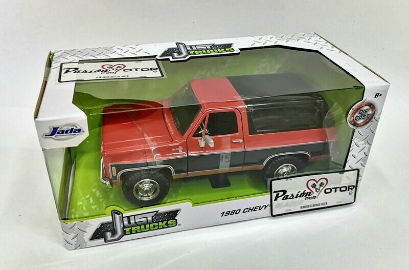 1:24 Chevrolet K5 Blazer 1980 Rojo C Negro Jada Toys  Just Trucks En Caja