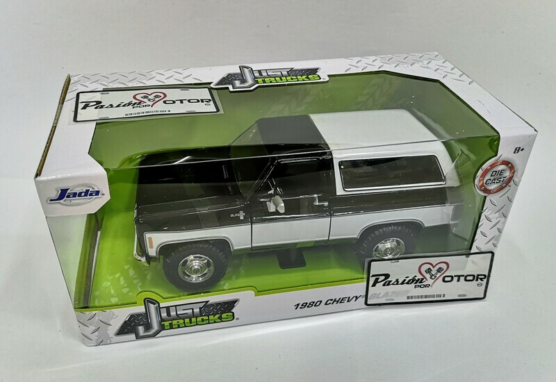 1:24 Chevrolet K5 Blazer 1980 Negro c Blanco Jada Toys  Just Trucks En Caja