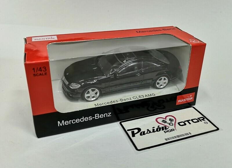1:43 Mercedes Benz CL63 AMG 2006 Negro Rastar En Caja