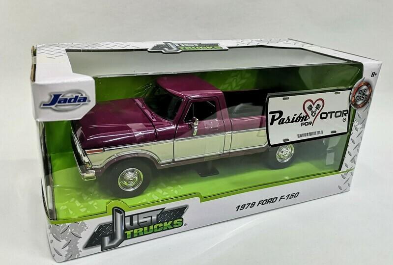 1:24 Ford F-150 Pick Up Caja Larga 1979 Bitono Purpura Beige Jada Toys - Just Trucks En Caja