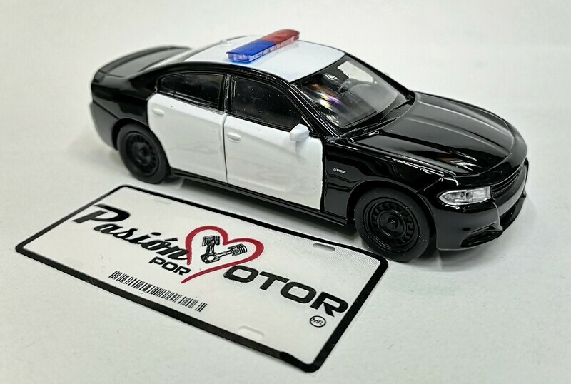 1:43 Dodge Charger R/T 2016 Pursuit Police Patrulla Welly En Display a Granel