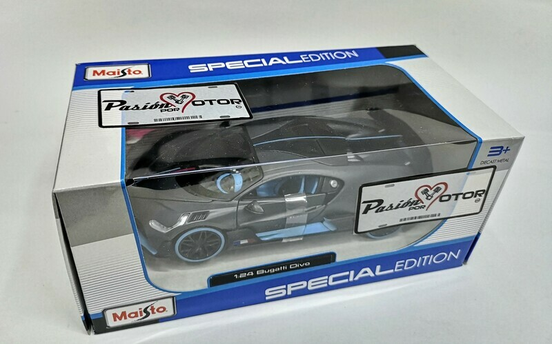 1:24 Bugatti Divo 2018 Gris y Azul Maisto Special Edition C Caja