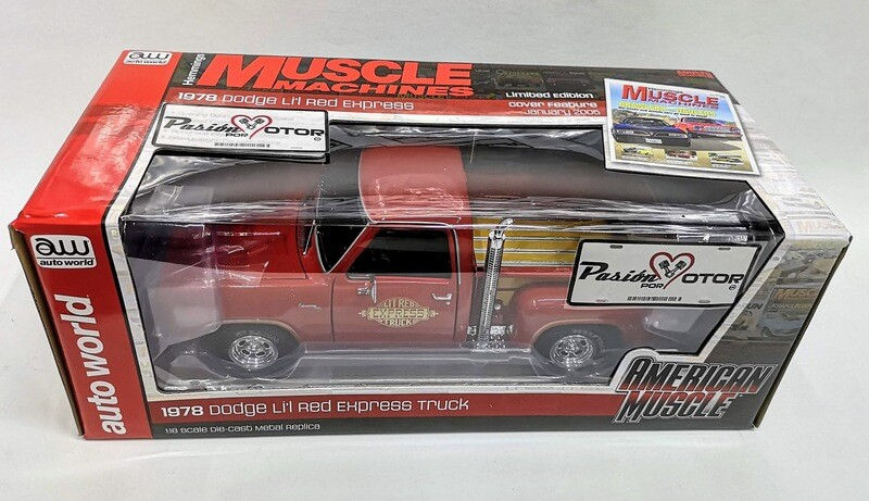 1:18 Dodge Li´ Red Express Truck 1978 Rojo Ram Pick Up Auto World