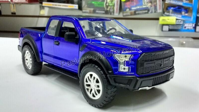 1:24 Ford F-150 Raptor 2017 Azul Candy Jada Toys Just Trucks C Caja