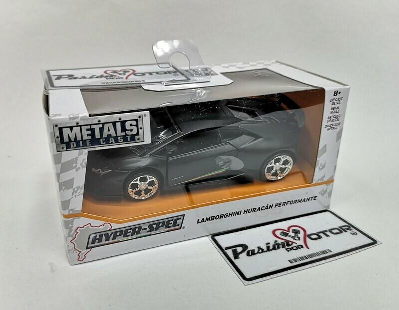 1:32 Lamborghini Huracan LP640-4 Performante 2017 Negro Mate Jada Toys - Hyper Spec C Caja
