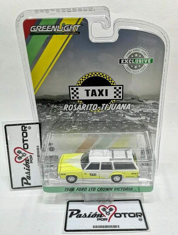 1:64 Ford LTD Crown Victoria 1988 Station Wagon Guayin Taxi Rosarito Tijuana Greenlight Hobby Exclusive