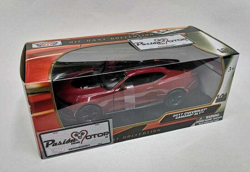 1:24 Chevrolet Camaro ZL1 2017 Rojo Motor Max C Caja