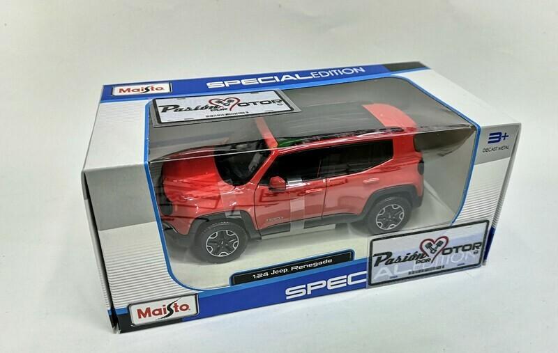 1:24 Jeep Renegade 2014 Rojo Maisto Special Edition C Caja