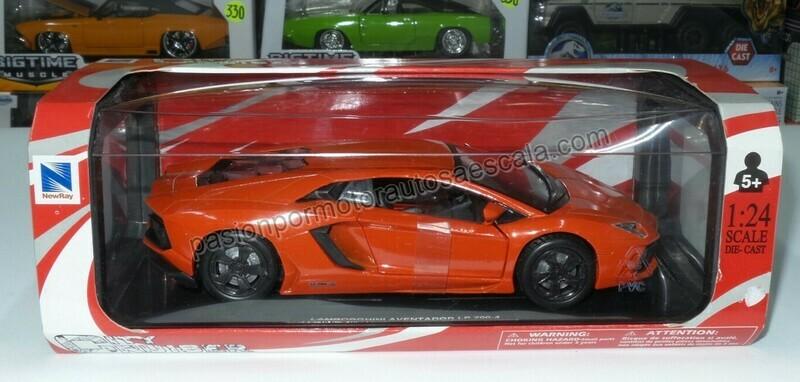 1:24 Lamborghini Aventador LP 700-4 2011 Naranja New Ray C Caja