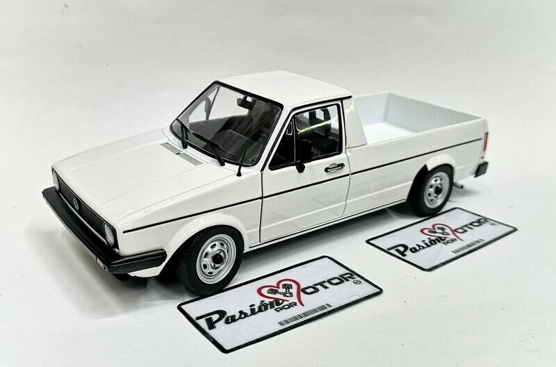 1:18 Volkswagen Caddy MKI 1982 Pick Up Blanco Solido