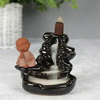Porta Incenso Back flow Per Coni Cascata del Piccolo Buddha