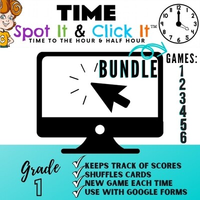 TIME BUNDLE of SIX GAMES (hour & half hour games) Spot It & Click It™
