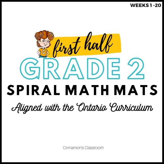 Grade 2 Spiral Math Mats   FIRST HALF (weeks 1-20)