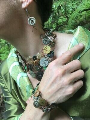 Ensemble Bijoux Royal Boutons Mix Vert
