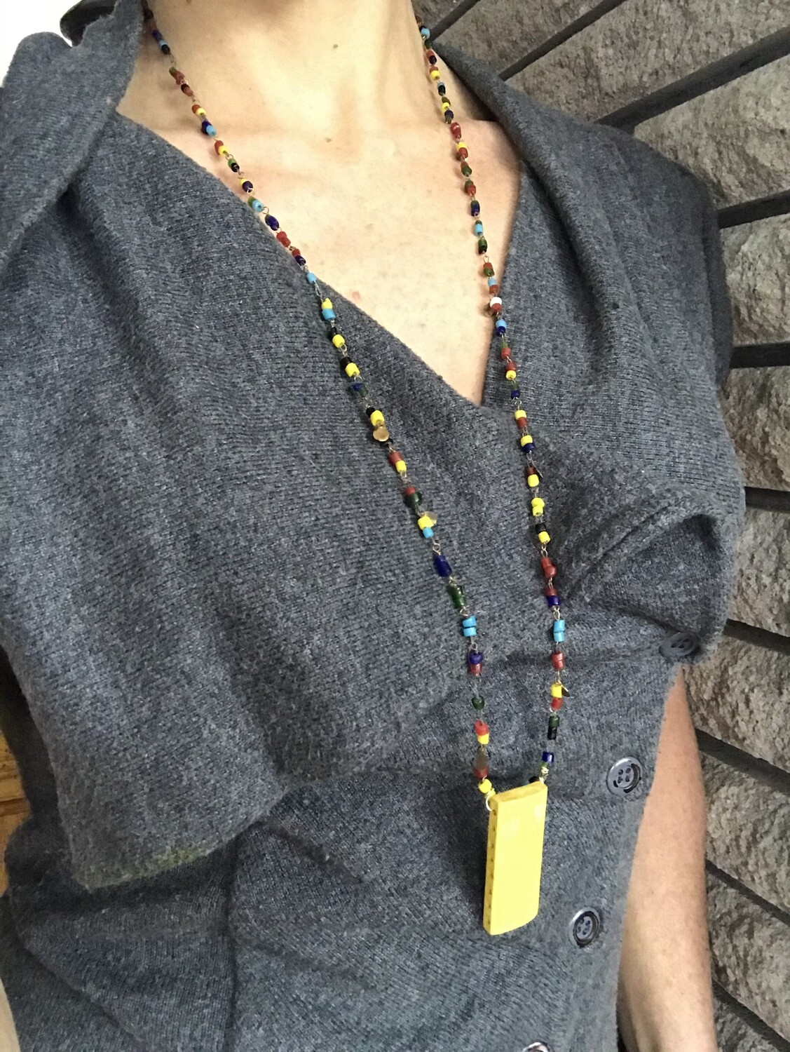 COLLIER SAUTOIR MULTICOLORE