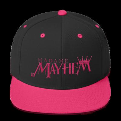 Blk/Pink Snapback Hat