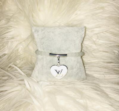 Beaded Louis Vuitton Charm Bracelet