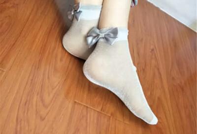 Platinum Bling Shimmer Socks