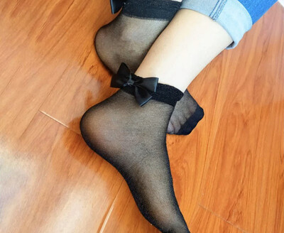 Black Out Shimmer Socks