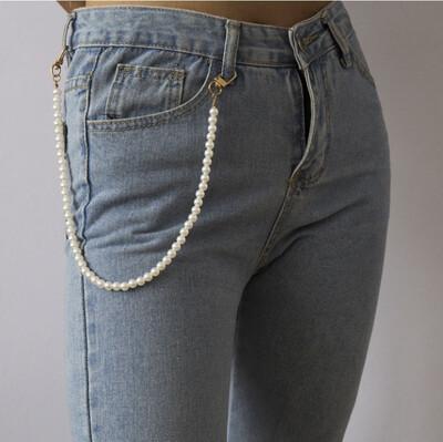 """Girls Wear Pearls"" Waist Chain"
